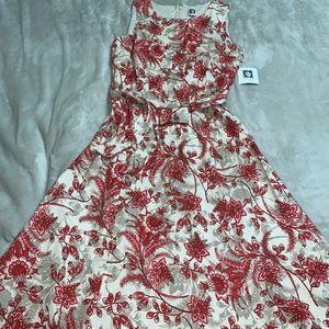 Anne klein floral Dress red size 10